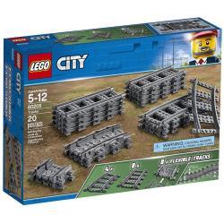 LEGO 60205 City Schienen 20 Stück Erweiterungsset, Kinderspielzeug