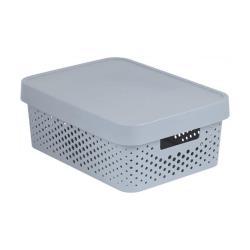 CURVER INFINITY Aufbewahrungsbox mit Deckel 11l, 36 x 27 x 14cm Plastik hellgrau