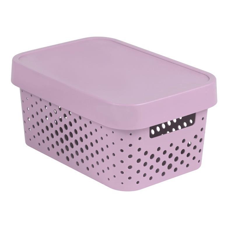 CURVER INFINITY Aufbewahrungsbox mit Deckel 4,5lL 27 x 19 x 12cm Plastik rosa,CURVER,229156, 3253924760025