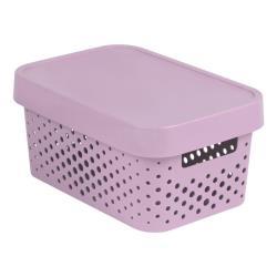 CURVER INFINITY Aufbewahrungsbox mit Deckel 4,5lL 27 x 19 x 12cm Plastik rosa