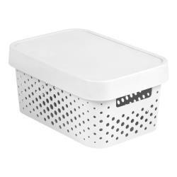 CURVER INFINITY Aufbewahrungsbox mit Deckel 4,5L, 27 x 19 x 12cm Plastik weiß
