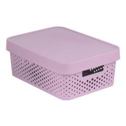 CURVER INFINITY Aufbewahrungsbox mit Deckel 11L, 36 x 27 x 14cm Plastik rosa
