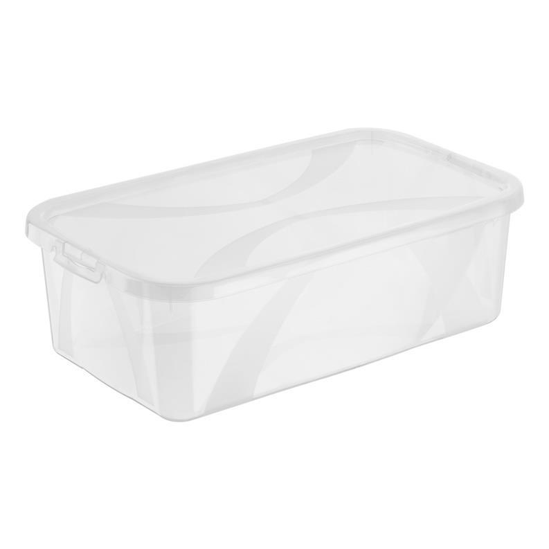 Rotho Arco Aufbewahrungsbox 5L mit Deckel 34,4 x 20,2 x 10,6 cm transparent,ROTHO,1163400096, 7610859136442