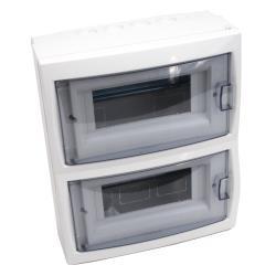 Sicherungskasten 2x8 Module Aufputz Kleinverteiler Wandmontage serie KNO
