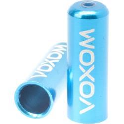 Voxom 5 Stück Anschlaghülsen Ka1 für 4 mm Fahrrad Schaltkabel blau Alu