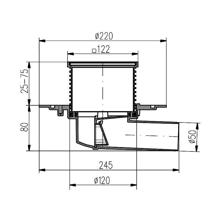 Edelstahl Bodenablauf Ablaufrinne Duschablauf Duschrinne Siphon für Bad,chud,381 B, 8595587400883