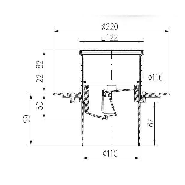 Badablauf Duschablauf Bodenablauf senkrecht Edelstahl geeignet für Innen - Außen,chud,386 F, 8595587413777