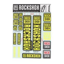 RockShox Aufklebersatz Ø30/32mm & RS1 Federgabeln Fahrrad Kit Neongelb Deko Set