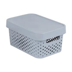 CURVER INFINITY Aufbewahrungsbox mit Deckel 4,5L, 27 x 19 x 12cm Plastik grau