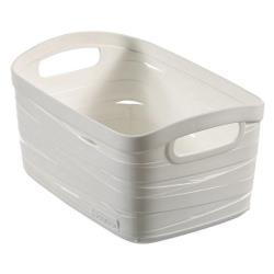 CURVER Aufbewahrungskorb Ribbon 3L, 24 x 17 x 12 cm Plastik weiß Box