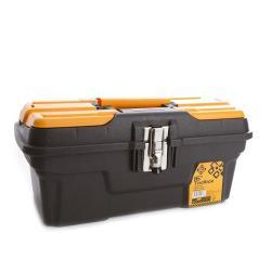 Werkzeugbox leer 23,9x19,4x43,4 cm Werkzeugkoffer Werkzeugkasten Werkzeugkiste
