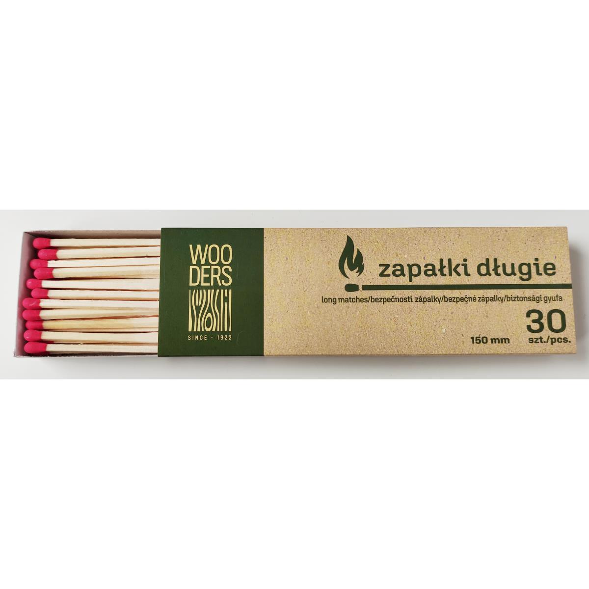 Streichhölzer KaminhölzerZündhölzer 30 Stück Hölzer 15 cm lang ,Zapatki,ZD30, 5908280901473
