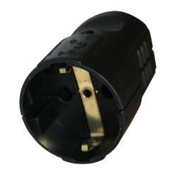 Schuko Kupplung Schukokupplung Schutzkontak 16A 230V Schwarz