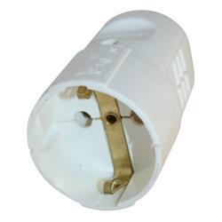 5x Schuko Kupplung Schukokupplung Schutzkontak 16A 230V Weiß