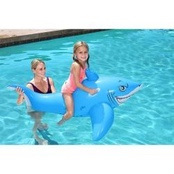 Bestway Schwimmtier Weißer Hai 157 x 71 cm Schwimmtier Reittier Schwimminsel