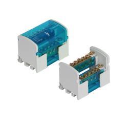 Verbindungsklemme 2x7 Verteilerblock 2-reihig Schraubklemme für Hutschiene TH35