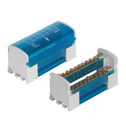 Verbindungsklemme 2x11 Verteilerblock 2-reihig Schraubklemme für Hutschiene TH35