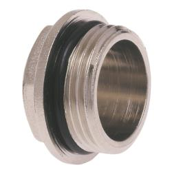 """5x Messing Fitting Gewindefitting, Stopfen AG 1"""" mit O-Ring-Dichtung"""