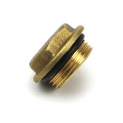 """Messing Fitting Gewindefitting, Stopfen AG 3/4"""" mit O-Ring-Dichtung"""