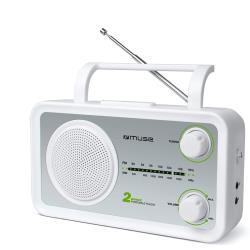 Muse Küchenradio FM, MW Radio, Netz- und Batteriebetrieb AUX-In für Handy weiß