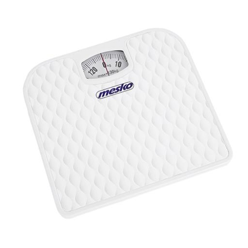 Mesko Mechanische Badezimmerwaage Personenwaage Körperwaage bis 130 Kg,Mesko,MS 8160, 5902934830416