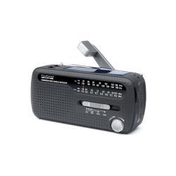 Radio mit Solarenergie tragbares Kurbel- Radio MH-07 DS schwarz