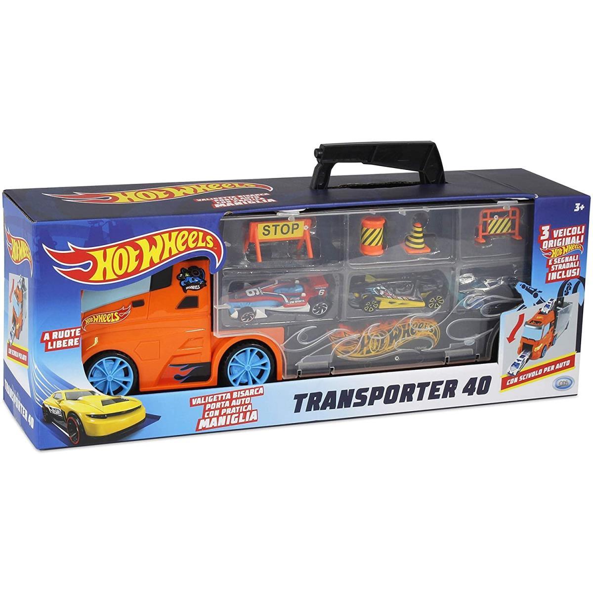 Hot Wheels Transporter 40 LKW Koffer mit Autos ,Hot Wheels,000040080791, 8017293420332
