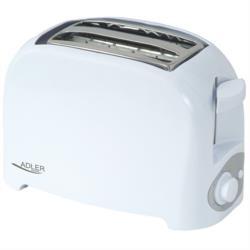 Adler Toaster für 2 Scheiben Ausziehbare Krümelschublade Bräunungs-Einstellknopf