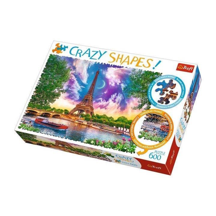 Puzzle Crazy Shapes Eiffelturm 600 Teile,Trefl,11115, 5900511111156