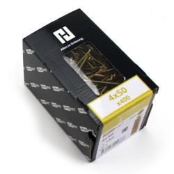 400x Holzschrauben Schrauben 4 x 50 mm Spanplattenschrauben Kreuzschlitz PZ2,Haushalt,000051371150, 4772013114383