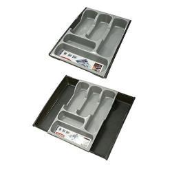 Besteckeinsatz Besteckkasten Schubladeneinsatz Besteckfach Kasten grau