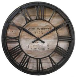 Wanduhr Vintage Wohnzimmeruhr Cafe Bürouhr Retro Holz Design Uhr