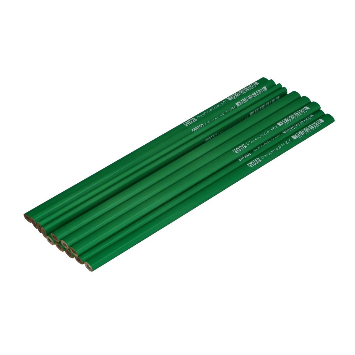 12 x Bleistift für Maurer 4H 30cm  Zimmermannbleistift Baubleistift Bleistift,FASTER TOOLS,6995, 5907078969954