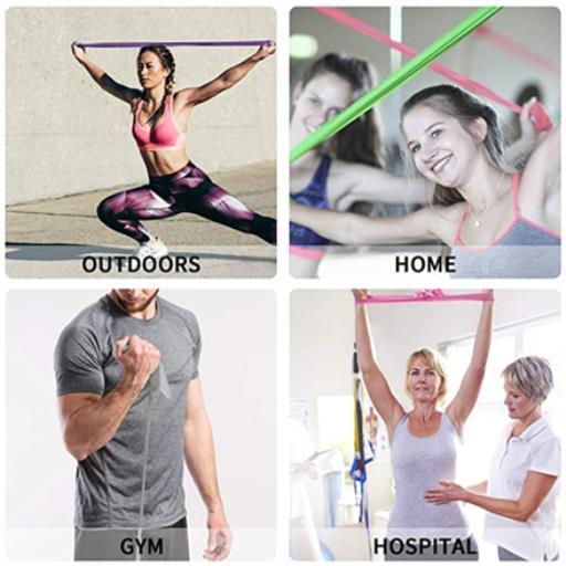Fitnessbänder Theraband Fitness Latexfrei Übungsband Gymnastikband Krafttraining,PROIRON,PRO-LLP-4, 6942590002559