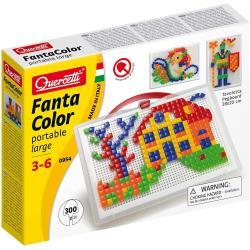 Quercetti Steckspiel mit 300 Stück für Kinder von 3 bis 6 Jahren