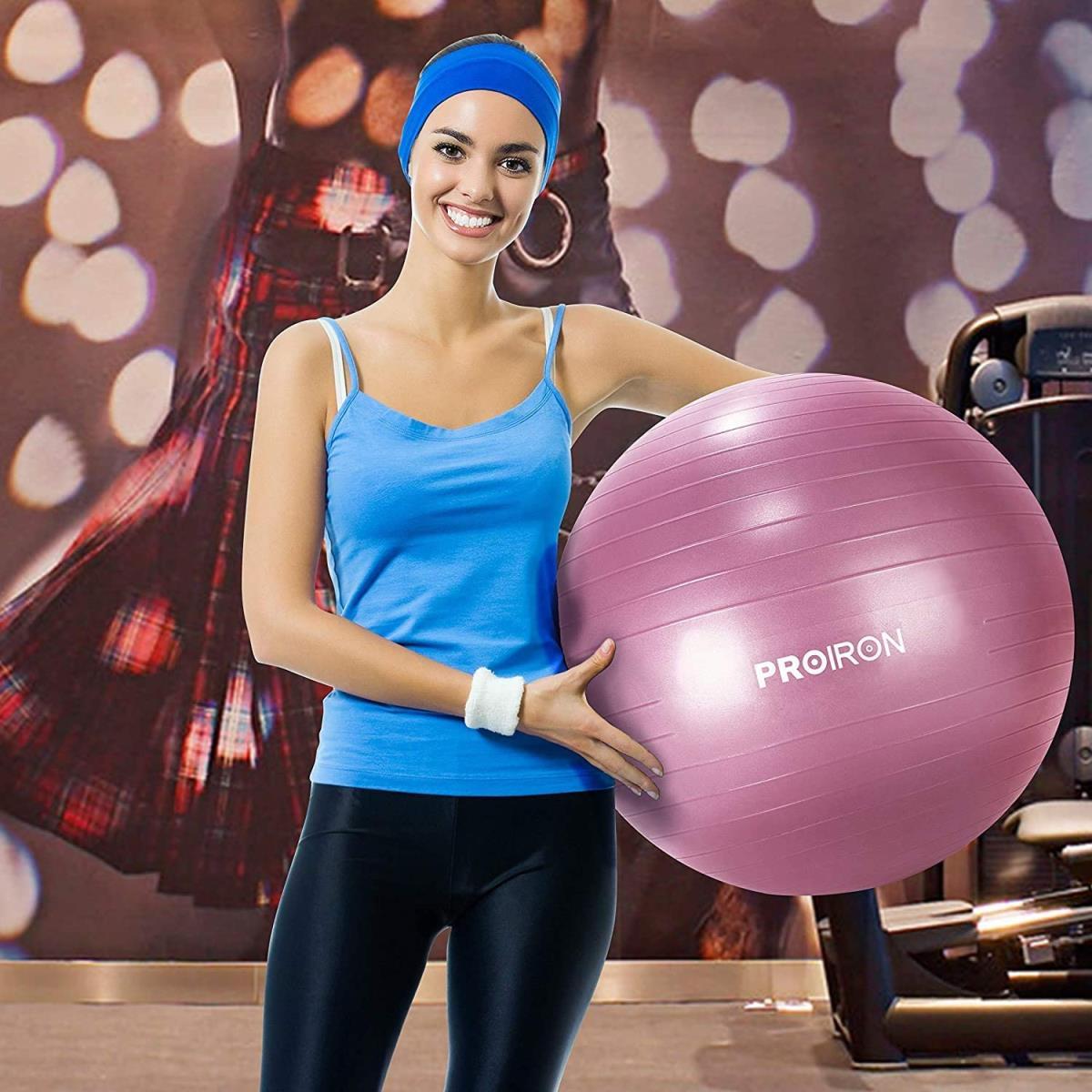 PROIRON Gymnastikball Ø75cm mit Pumpe Übung Yoga Balance Ball Pezziball Sitzball,PROIRON,PRO-YJ01-3, 6942590001149