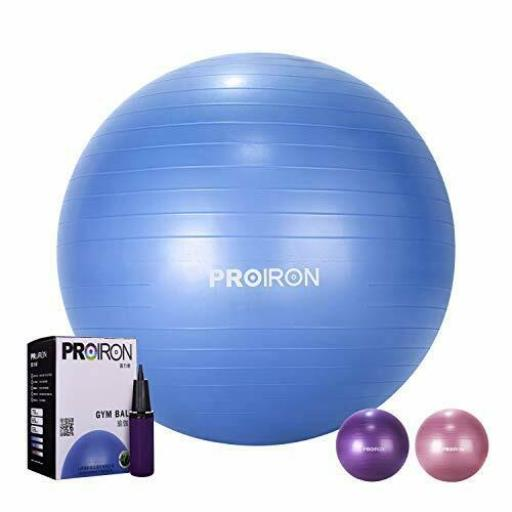 PROIRON Gymnastikball Ø55cm mit Pumpe Übung Yoga Balance Ball Pezziball Sitzball,PROIRON,PRO-YJ01-7, 6942590001088