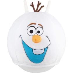 Hüpfball Sprungball 45-50 cm Olaf mit flauschigem Plüschüberzug in weiß Hupfball