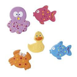 5-teilig Canpol Anti-Rutsch-Matten Set für die Badewanne Tiere mit Saugnäpfen