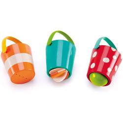 Hape Buntes Eimer-Set  Wasserspass für Kleine Kinder Kleinkind Spielzeug Spiel