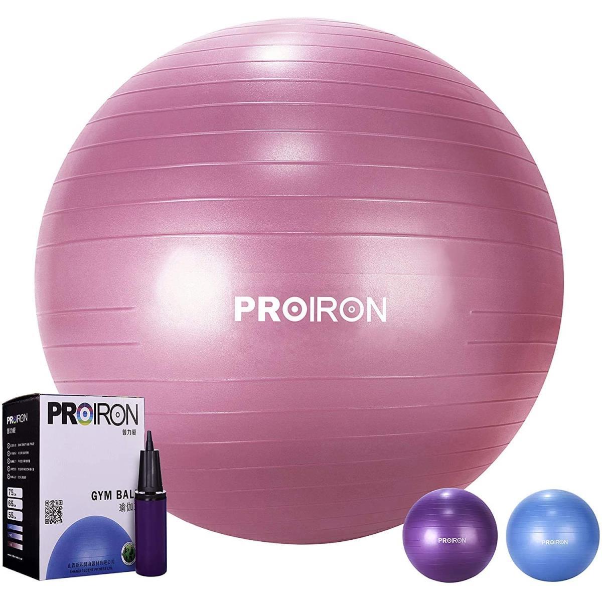 PROIRON Gymnastikball Ø65cm mit Pumpe Übung Yoga Balance Ball Pezziball Sitzball,PROIRON,PRO-YJ01-6, 6942590001125