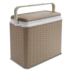 Kühlbox 10L Kühltasche Kühlschrank Thermobox Picknickbox Campingbox Ratan beige