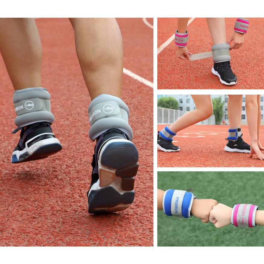 2x 1 kg Gewichtsmanschetten für Fuß/Handgelenk Gewichte Fitness Gewichtsbänder,Proiron,PRO-FZSD01-2, 6942590003068