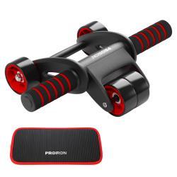 PROIRON AB Roller Bauchtrainer AB Wheel Workout Bauchroller mit Kniematte