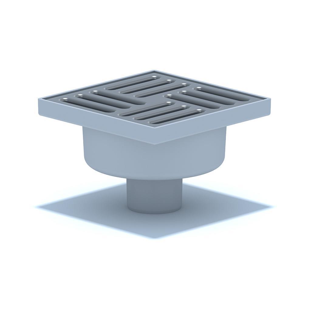 Bodenablauf vertikal 150x150x50mm Duschablauf Bad Boden Ablauf Abflussrinne,Ani Plast,TA5212EU, 4779037105946