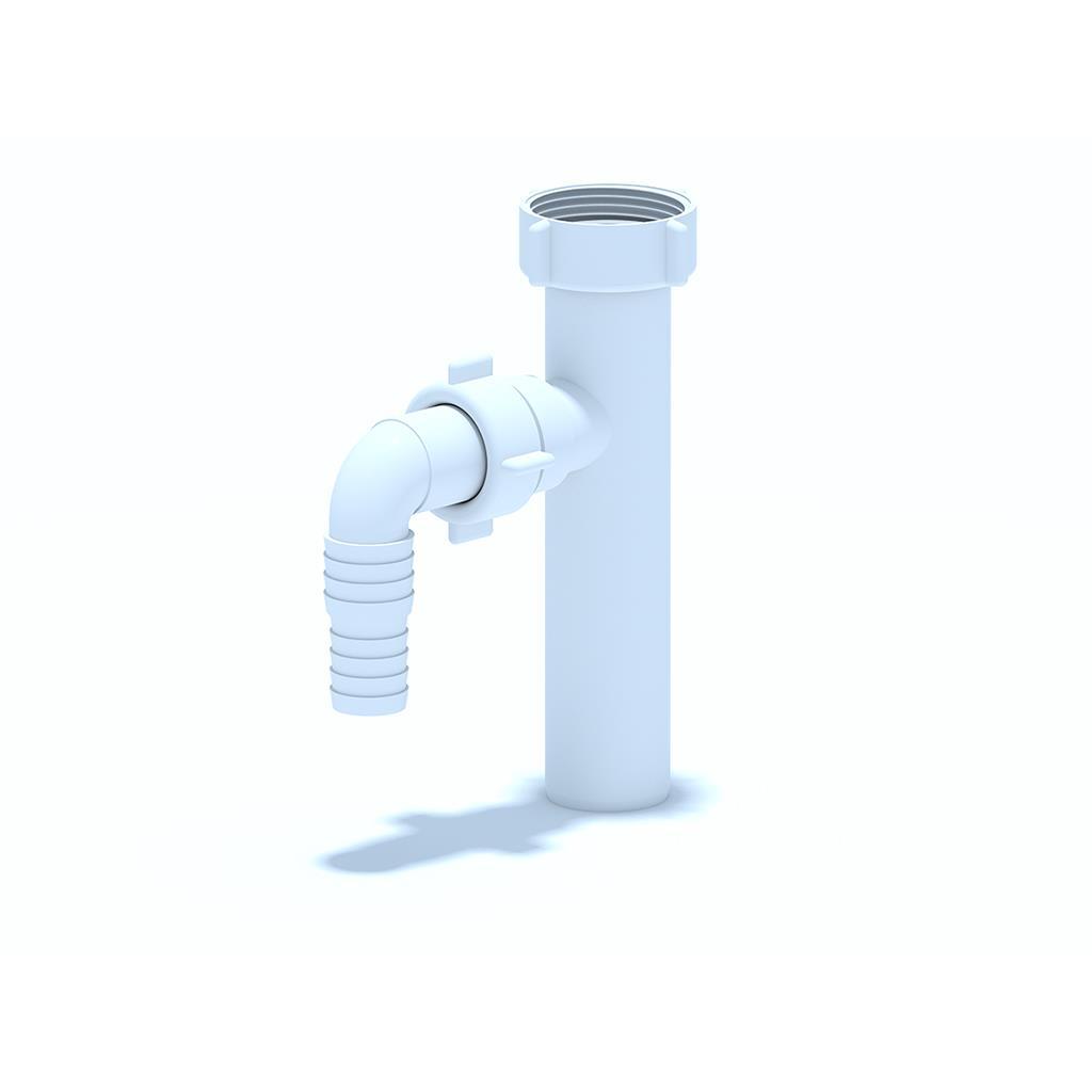 """Tauchrohr mit Geräteanschluss Waschbecken Ablauf 1 1/4""""x32mm Anschluss,Aniplast,M220EU, 4779037103850"""