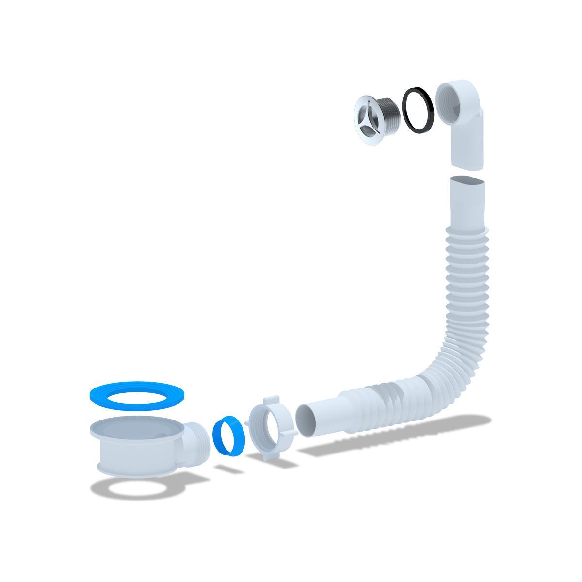 Spülen Siphon Sifon Adapter mit vertikalen Überlauf Waschbecken ,Ani Plast,N420SR1EU, 4779037109715