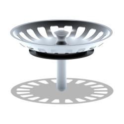 Siebkörbchen Ø83,5mm mit Zapfen Abflusssieb für Standard Küchenspüle Universal
