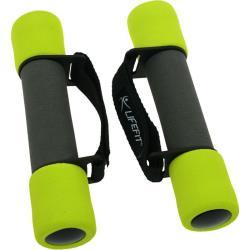 2x1kg Fitness Schaumstoff Kurz Hanteln mit Bändern Aerobic Yoga Pilates Gewichte