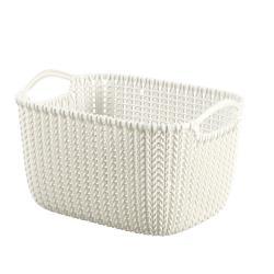 CURVER Aufbewahrungskorb Knit XS 3 Liter Cremefarbe Aufbewahrungsbox Korb Creme